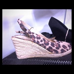 Shoes - New Cheetah Print Wedge Sandals Size 8